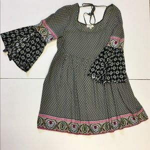 Umgee Boho Dress/Tunic Black Pink Blue Green sz S